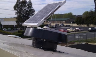 Industrial whirlybird alternative for commercial cooling - Medical Centre