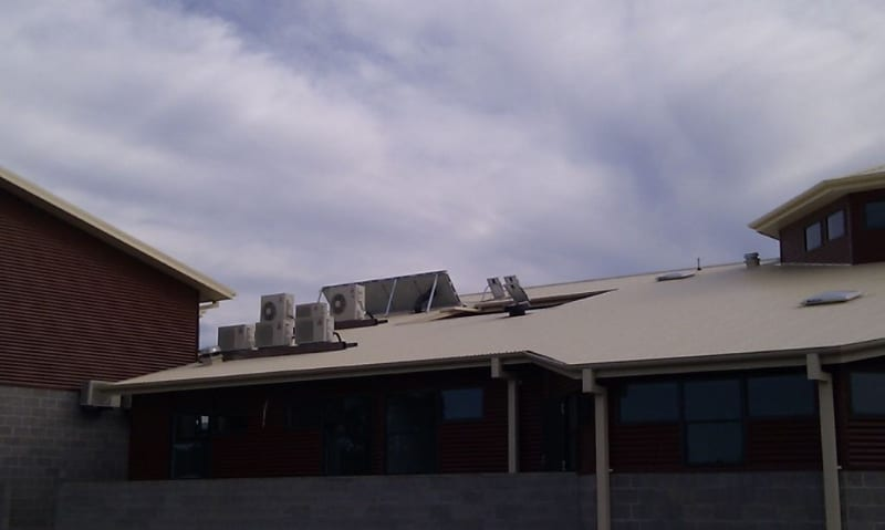 Solar Commercial ventilation and heat extraction fan - Medical centre