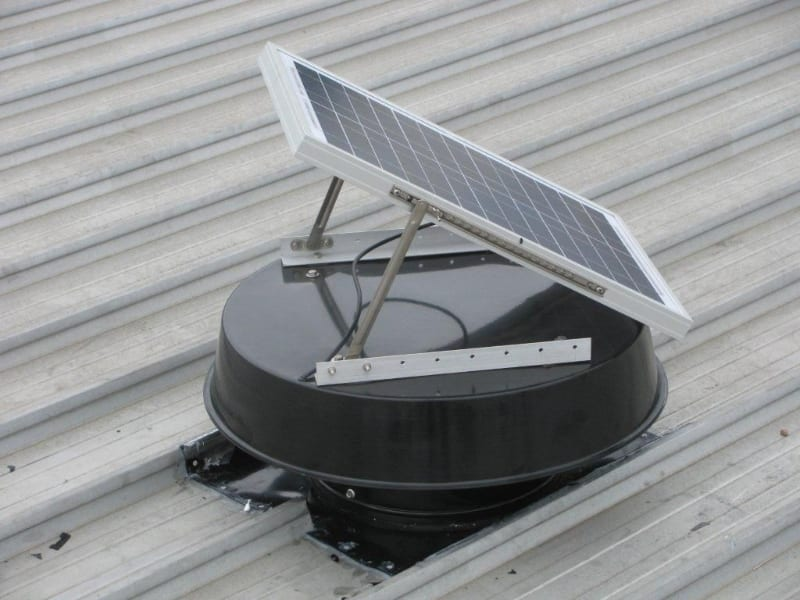 Industrial Roof Vents : Solar powered ventilation whiz commercial