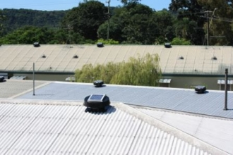 Solar Roof Space Ventilation is Effective for roof cooling on large buildings