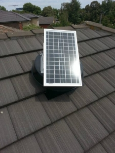 Solar Extractor fan for Solar Cooling