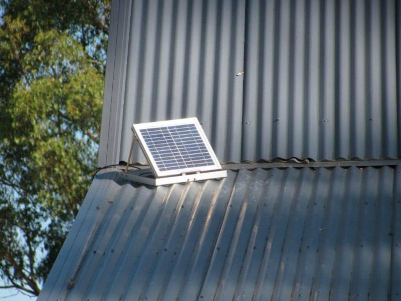 Gable Fan Installation Solar Cooling Fan Ventilator On