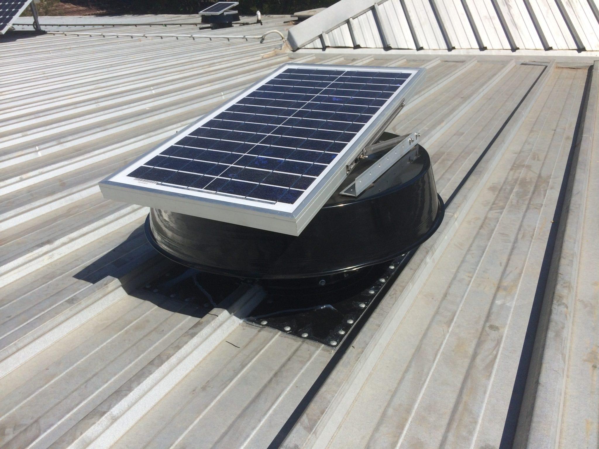 solar whiz panel on house