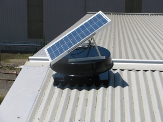 Attic fan reduces need for house cooling