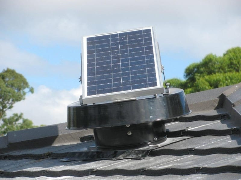 Solar Whiz attic fan for roof ventilation and house cooling