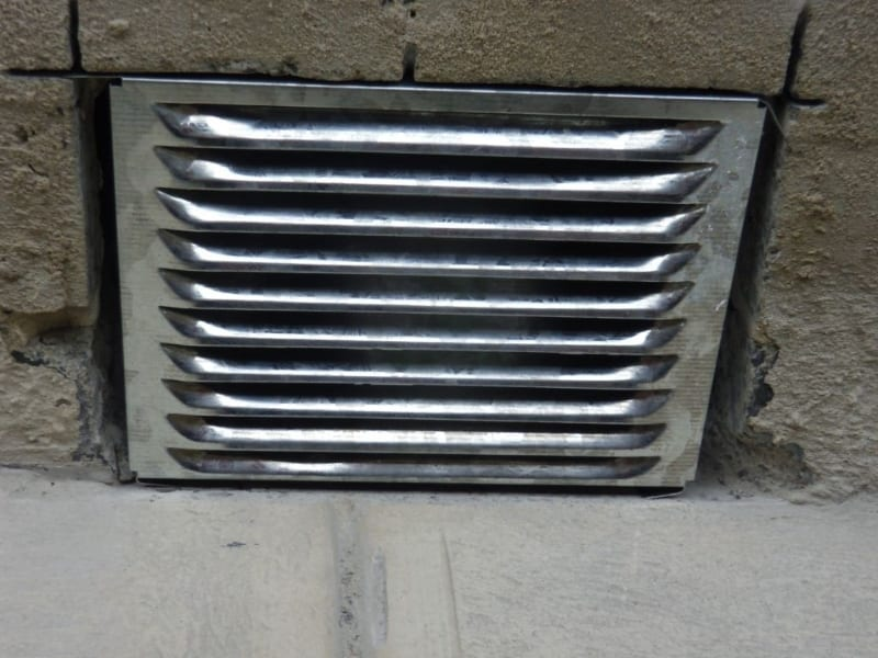 Vent for subfloor fan to improve subfloor ventilation