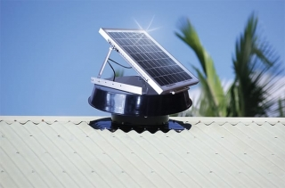Solar cooling and solar Ventilation for cabins portables mobile homes