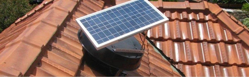 solar ventilation install