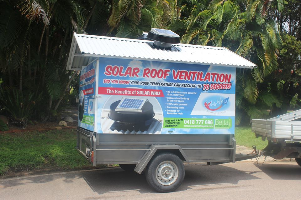 Solar Whiz Trailer In Action (Townsville)