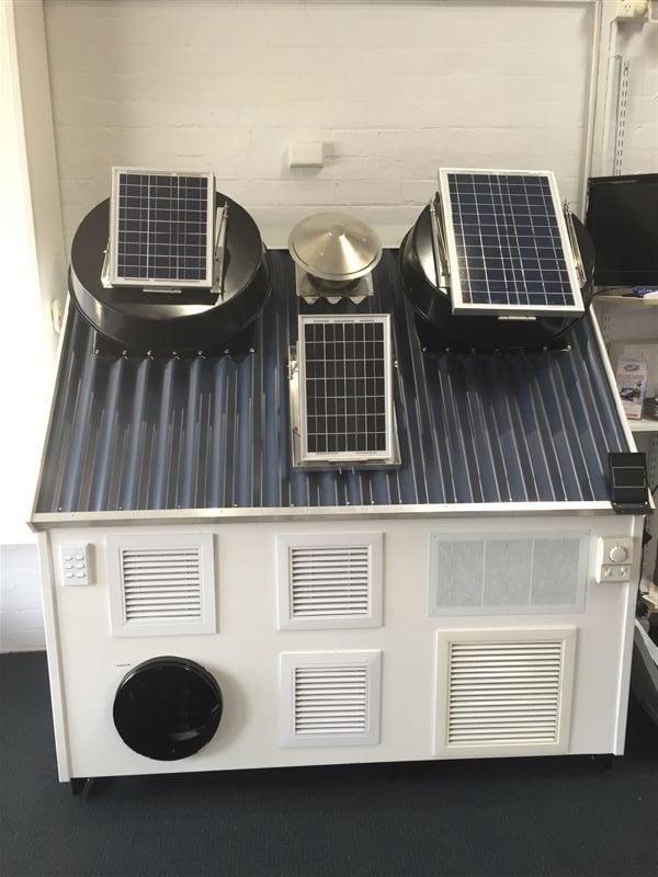 Solar Whiz and Subfloor fans