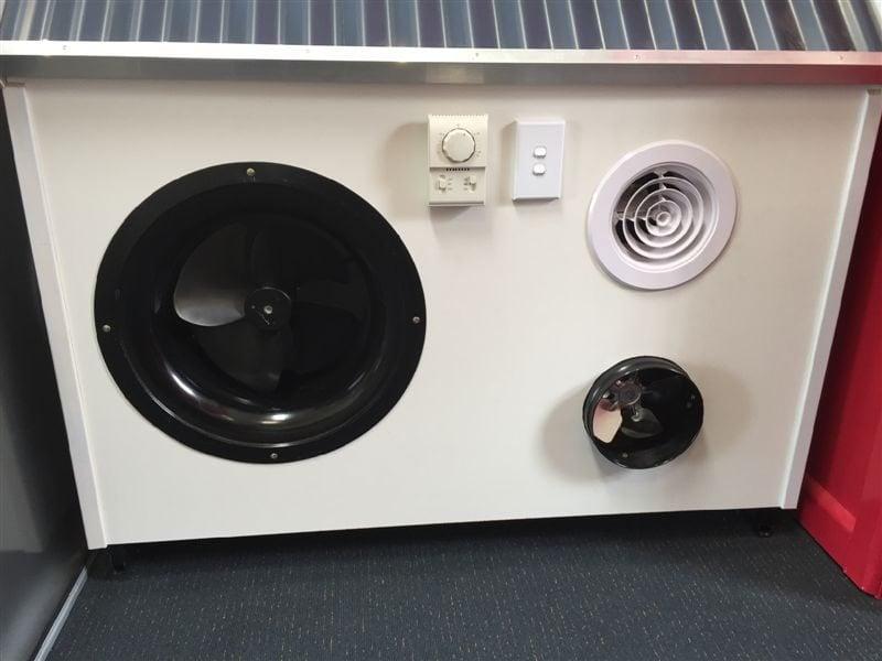 Subfloor ventilation fans