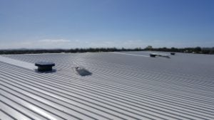 Solar Whiz commercial installed on a warehouse roof